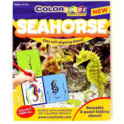 Seahorse Stencil Art