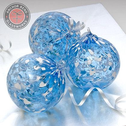Aqua Ice Storm Ornament