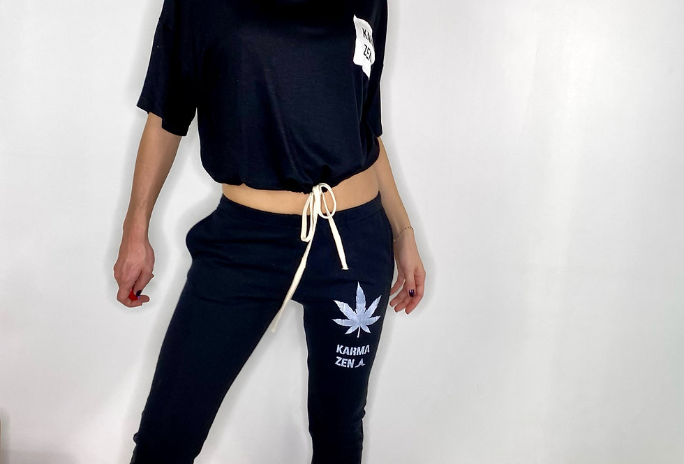 Low Waist Sweatpant Mary Jane French Teddy