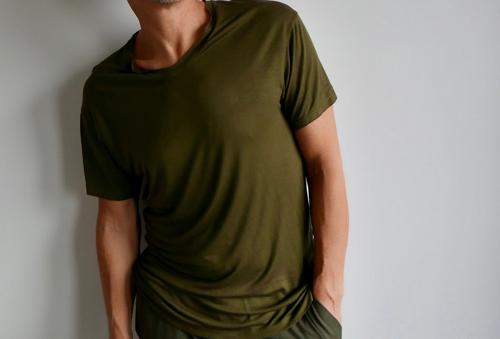 T-Shirt Clive Viscose Khaki