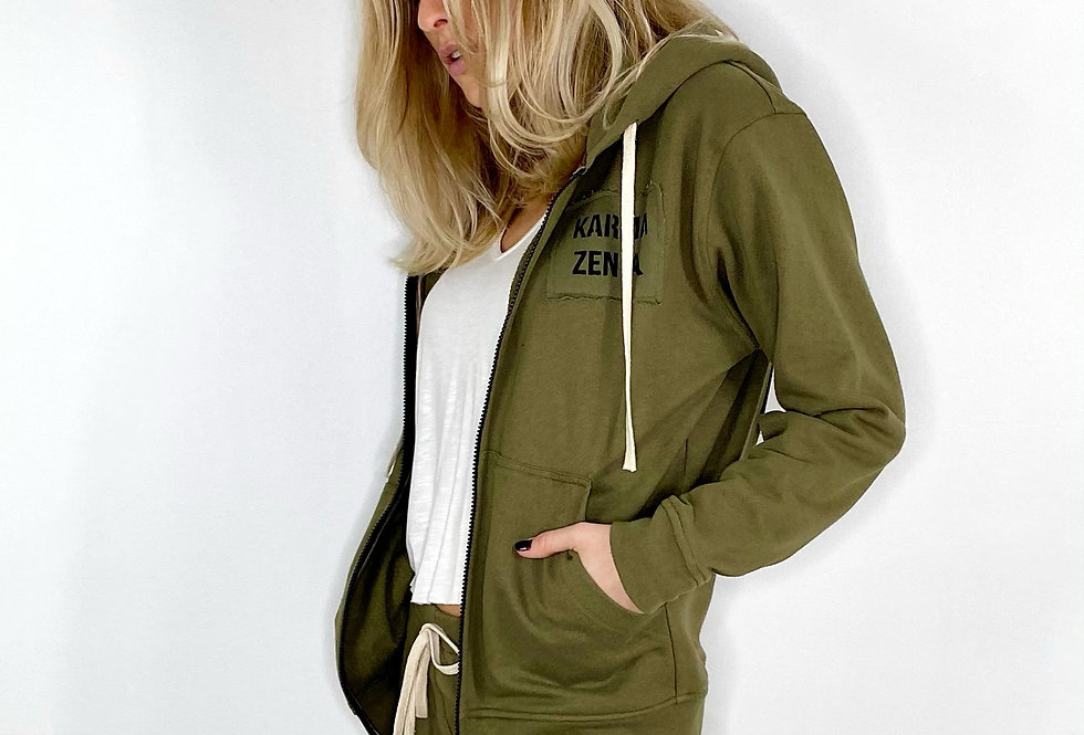Zipped Hoodie French Teddy - 5 Colors