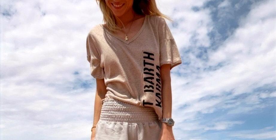 T-shirt Bisous Linen - 4 Colors