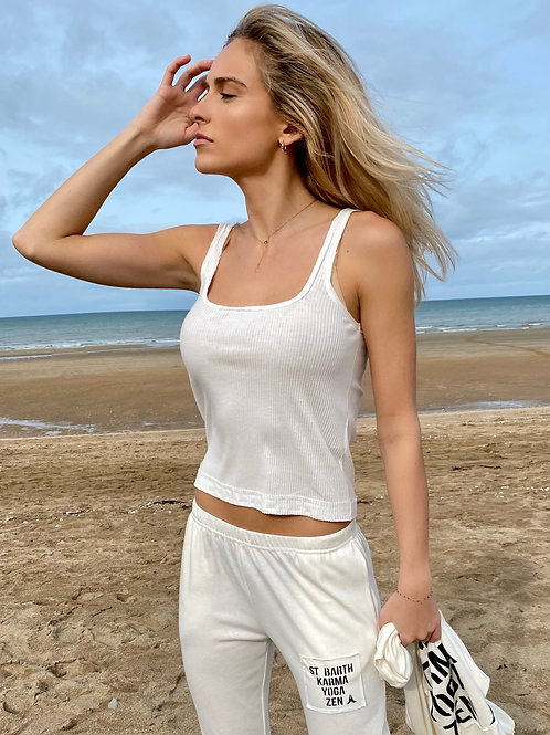 Tank Tight Top RIBBED cotton 011 Ivory