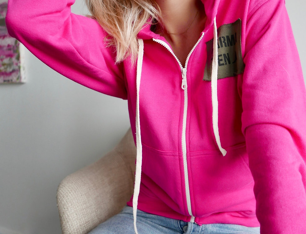 Zipped Hoodie French Teddy