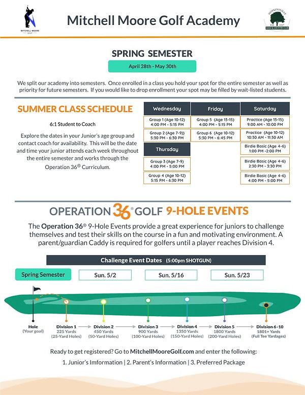 Junior Academy Tuition & Schedule Page 2
