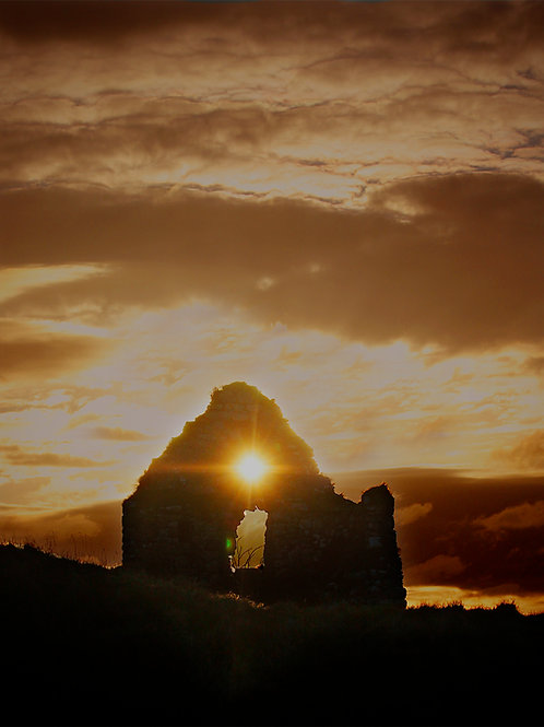 Sunset near Clonmacnoise