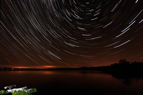 Star Trail over Lough Derg