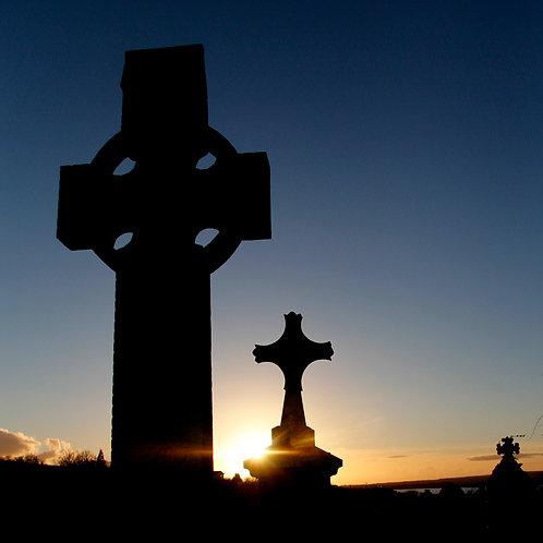 Sunset over Kilbarron Old Burial Ground