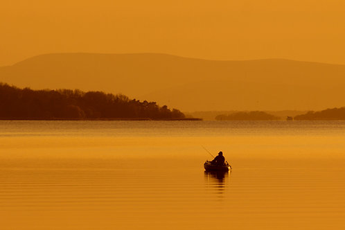 Fishing on Lough Derg at Portumna