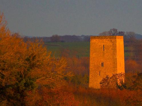Evening Sunlight on Tullaun Castle