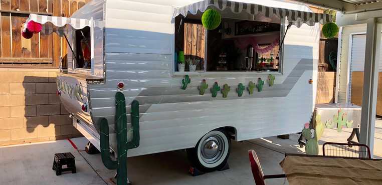 Our Bar Trailer all dressed up for a birthday party
