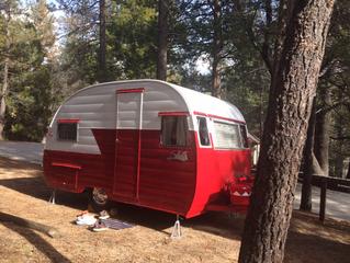 """1956 Shasta """"little red wagon"""""""