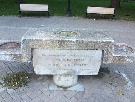 Broken fountain, Allan Gardens