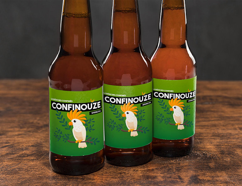 confinouze : la bière des confinés, locale & solidaire