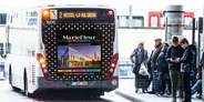 Advertising for a city bus (fullback)