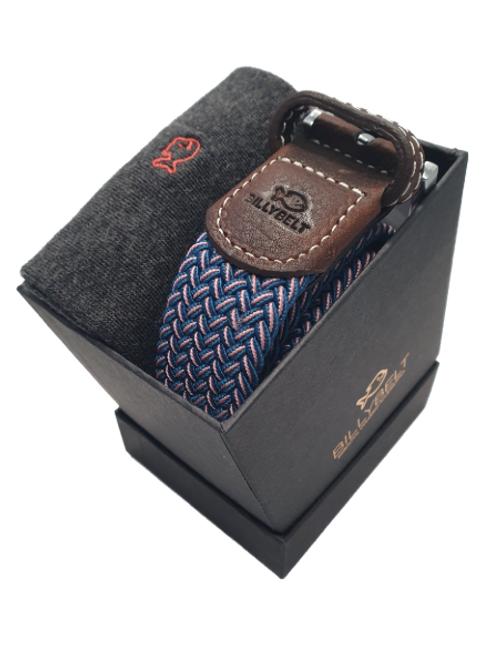 Billy Belt Grey Socks & The Seoul Belt Gift Set (Black Box)