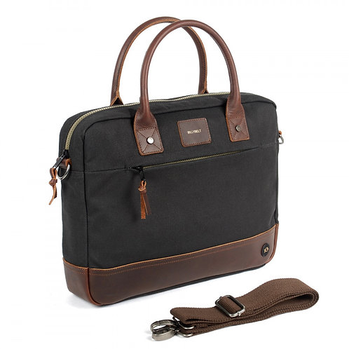 Billy Belt Laptop Bag - Black