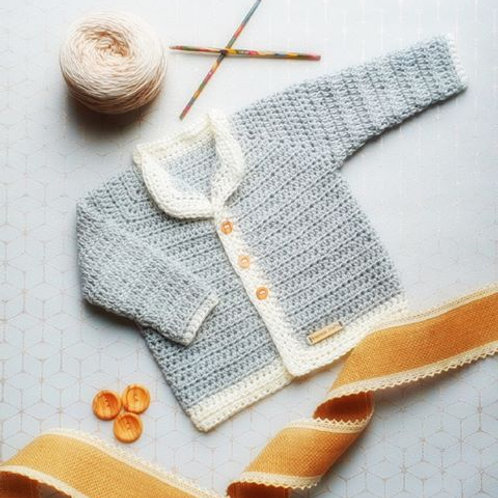 Newborn Baby Vegan Cardigan - Light Blue