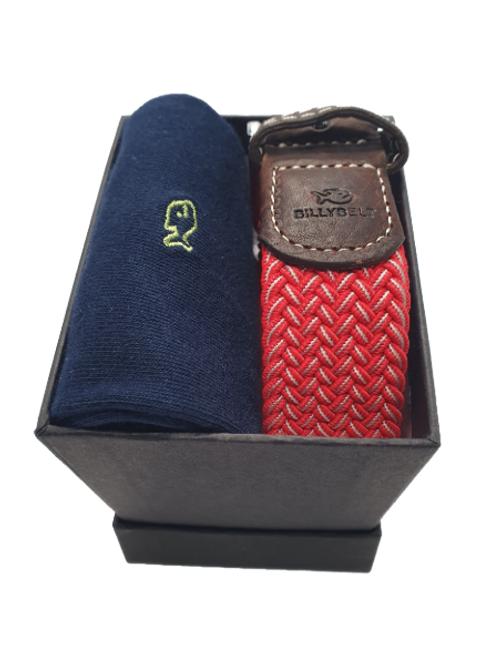 Billy Belt Navy Socks & The Mexico Gift Set (Black Box)