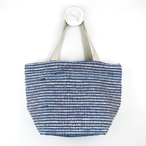 Recycled Blue and Silver Chindi Bag