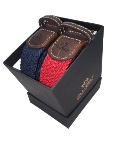 Christmas Billy Belt Gift Box - Navy & Red Grenade - Size 1