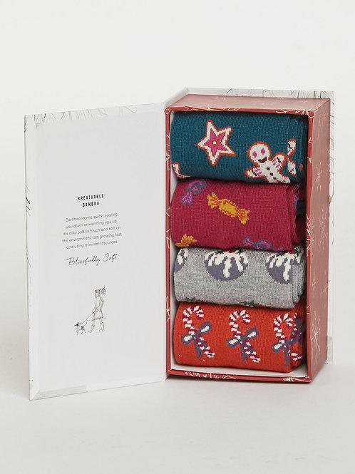Thought - Christmas Treats Bamboo Sock Box