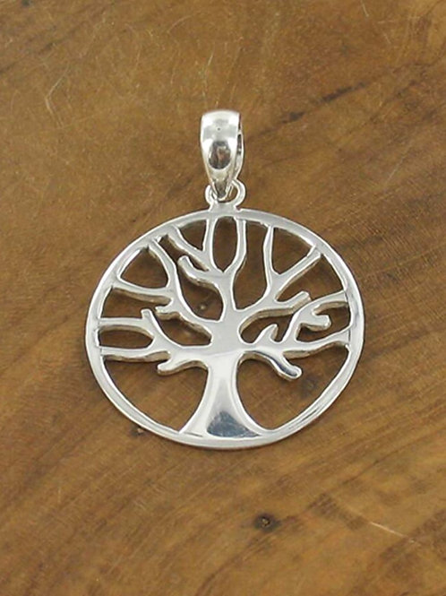 Suzie Blue: Large Sterling Silver Tree of Life Necklace