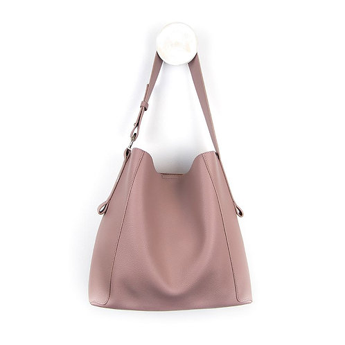 Vegan Leather Shoulder Bag Tea Rose