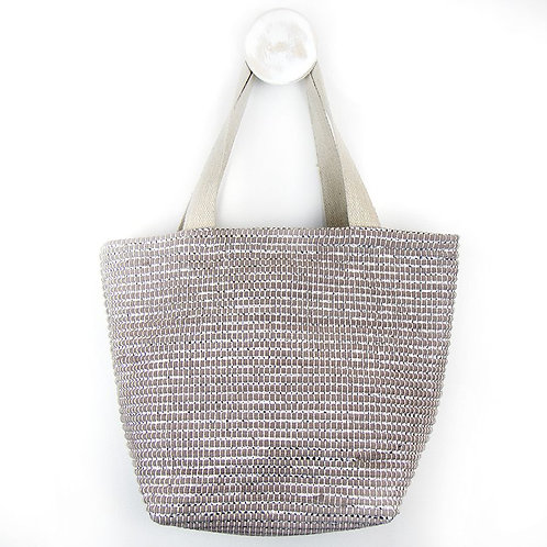 Recycled Grey and Silver Chindi Bag
