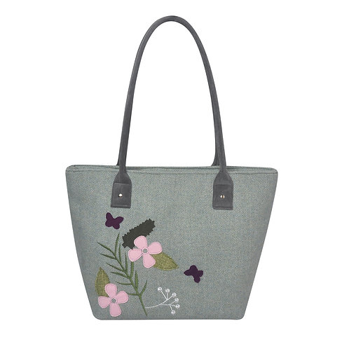 Spring Herringbone Tote Bag
