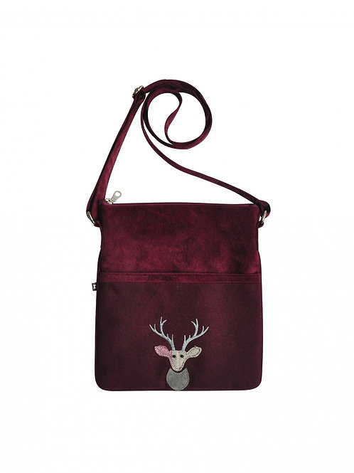 Deer Crossbody Bag - Plum