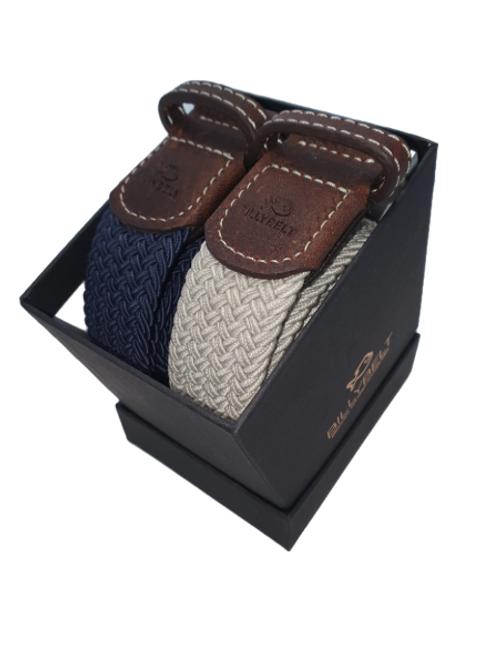 Christmas Billy Belt Gift Box - Navy & Grey Seagull - Size 1