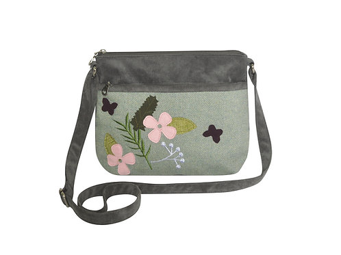 Spring Herringbone Messenger Bag