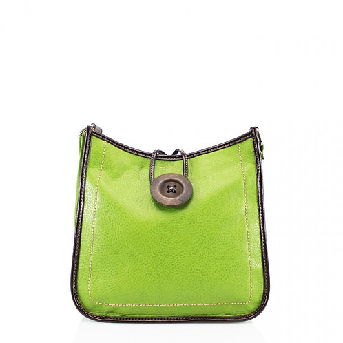 Button Cross Body Bag Green