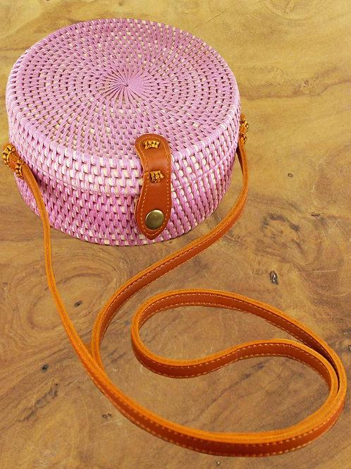 Suzie Blue: Pink Round Basket Bag