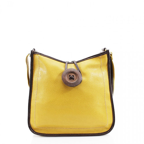 Button Cross Body Bag Yellow