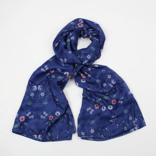 Mazarine Blue Scarf by Hazel & Pip Cornwall
