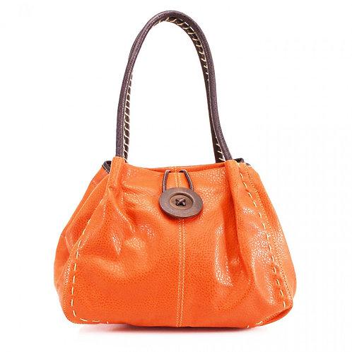 Button Shoulder Bag Orange