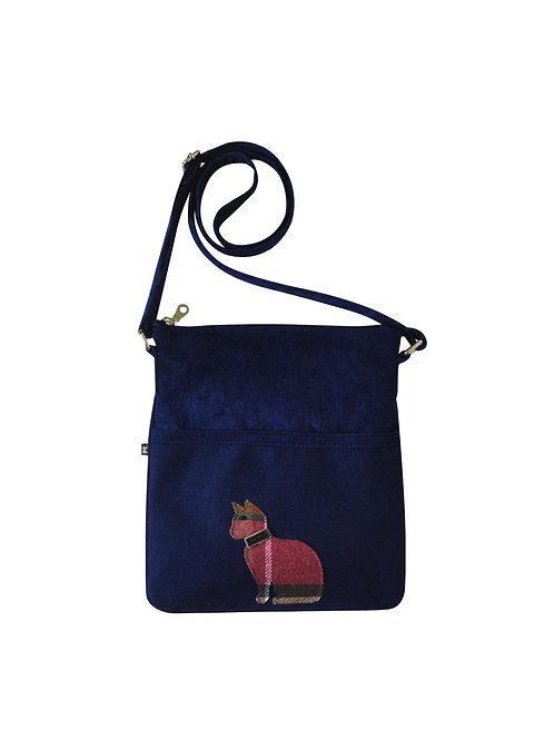 Cat Applique Block Bag