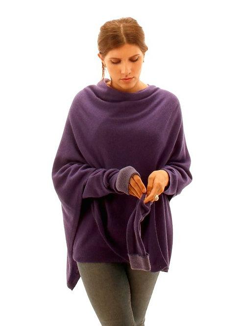 Cashmere Blend Poncho - Ultra violet
