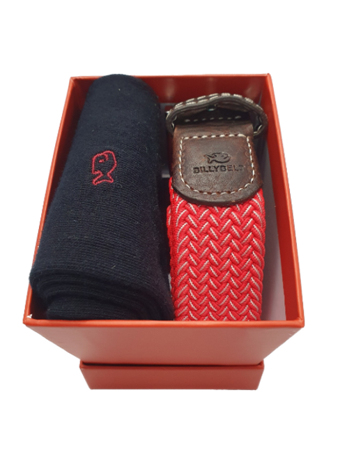 Billy Belt Black Sock & The Mexico Belt Gift Set (Red Box)