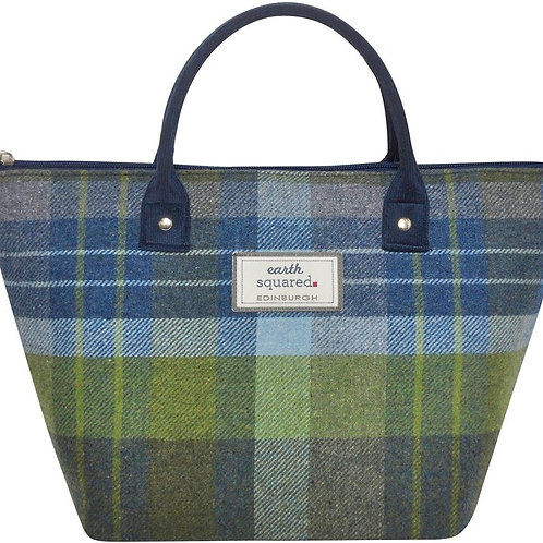 Small Tweed Tote Bag - Coastal Blue