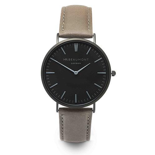 Mr Beaumont Matt Grey Leather Watch