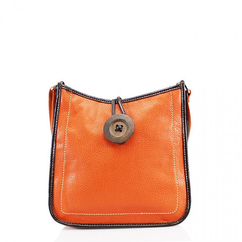 Button Cross Body Bag Orange
