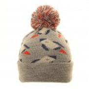Children's Grey Rocket Bobble Hat