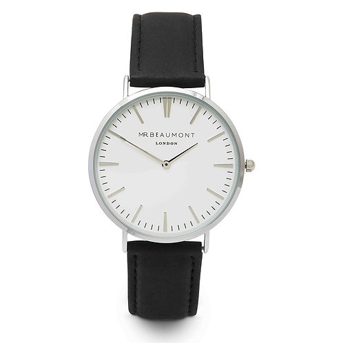 Mr Beaumont Black Leather Watch