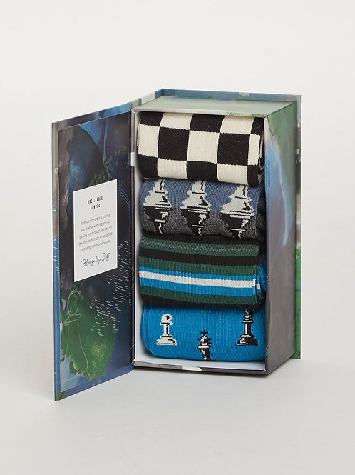 Thought - Chess Set Bamboo Sock Box