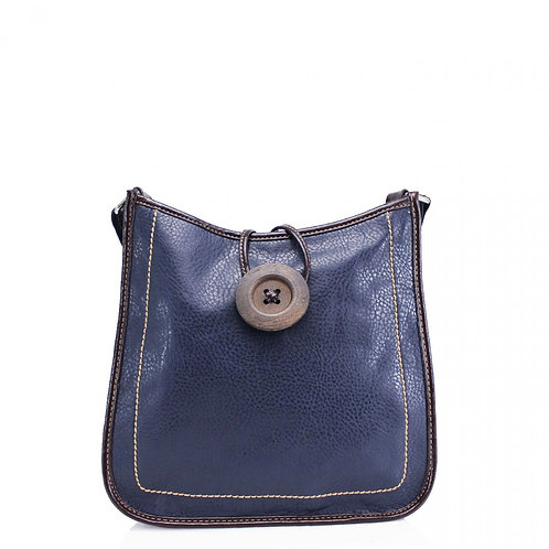 Button Cross Body Bag Navy