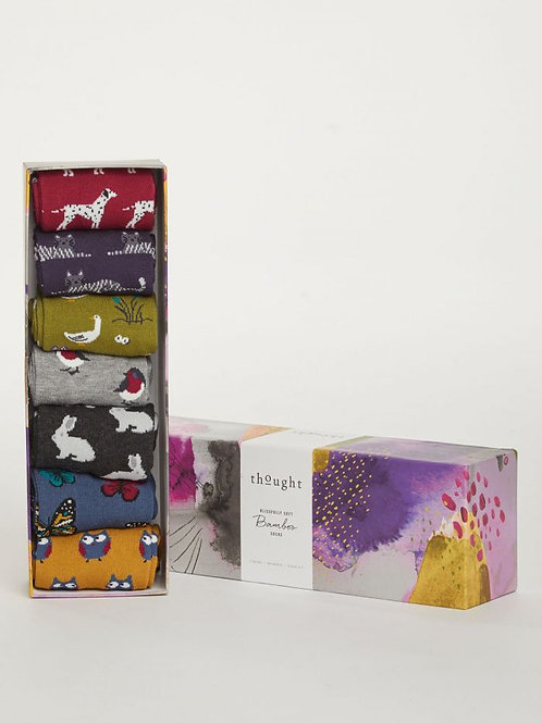 Thought - Fauna Bamboo Sock Pack