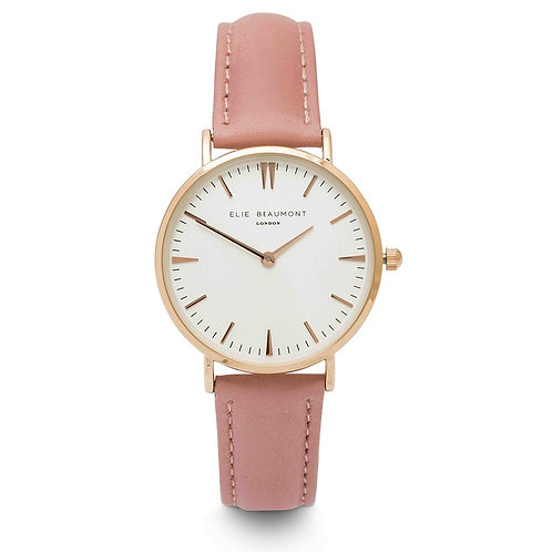 Elie Beaumont London: Oxford Small Light Pink Watch